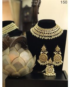 Gold Necklace with Big Earrings