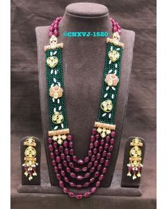 Green and Ruby Necklace Set