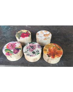 30 Handmade Eco Friendly Handcrafted Banana Fibre Round  Decoupage Box