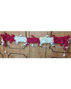 Decorative White  and Pink Floral  string for Wedding or Festivals