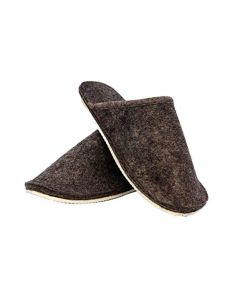 Mojopanda Winter and Summer Grey Flat Slip-On Design with Soft Warm Woolen Sole, Indoor Slippers for Women (US 12.5)