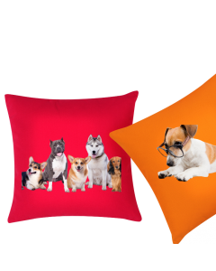 Creative Gifts Custom Personalized  Photo Pillow  or Cushion Cover with Your Pet  Image and Text for Home Decor