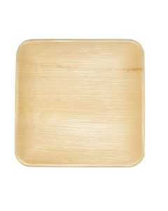 "Eco friendly Areca palm leaf disposable square 10"" plate"