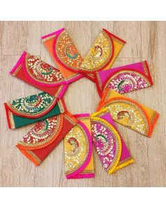 Handmade Colourful Gotta Patti Envelopes for Weddings