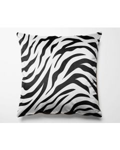 Custom Personalized  Zebra  Print Cushion Cover with Your Image and Text for Home Decor