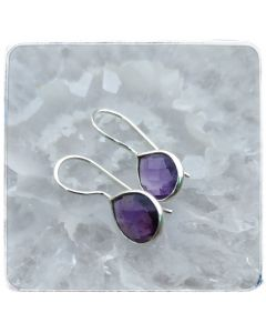 Amethyst Earrings in .925 Silver