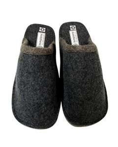 MOJOPANDA Winter and Summer Grey Flat Slip-On Design with Soft Warm Woolen Sole,Indoor Slippers for Women (7)