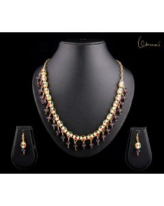 Necklace Kundan and Amethyst