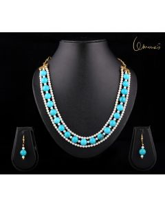 Turquoise and pearl set