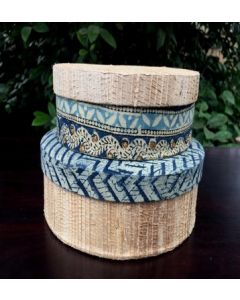 Handmade Eco Friendly Handcrafted Set of 20 Banana Fibre Round Box