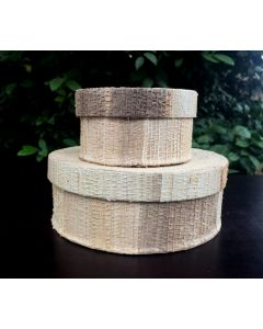 20 Eco Friendly Round Banana Fiber Box