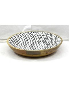 Wooden Bowl in black and white