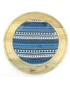 Wooden Charger in Blue colour