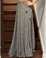 Grey Shimmer Party Skirt